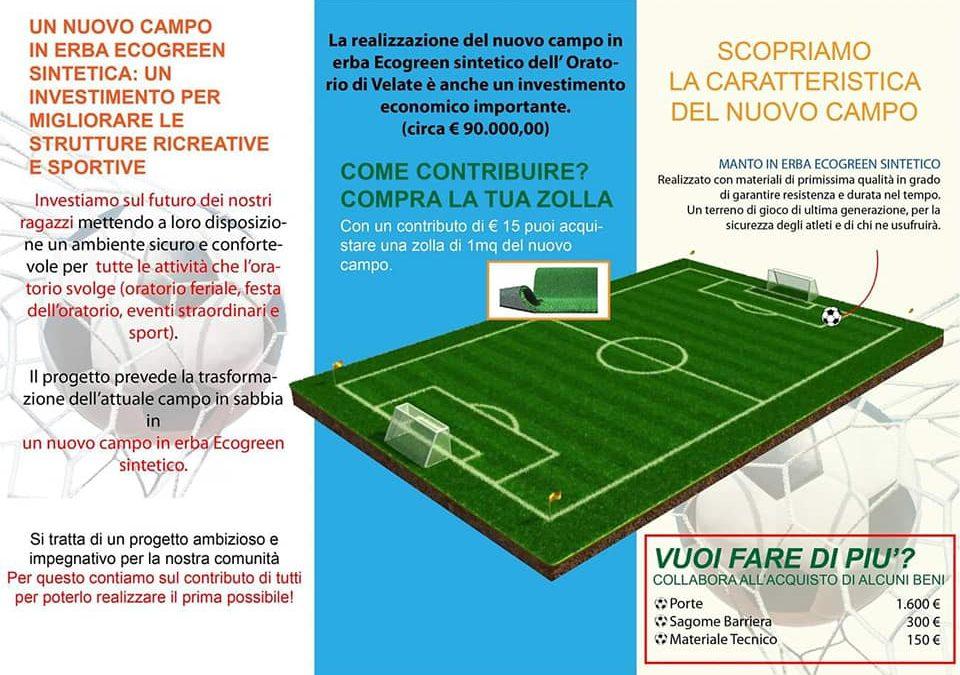 Il nuovo campo da calcio in sintetico